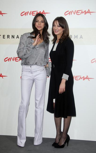 Asia Argento and Moran Atias at the photocall of