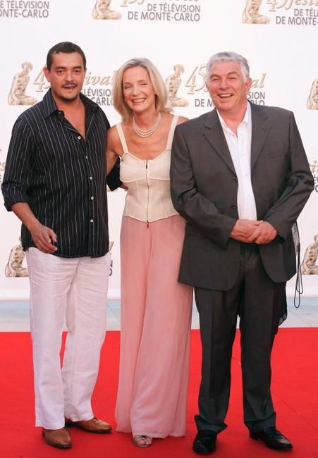 Stephane Slima, Marie-Christine Adam and Jean-Claude Bouillon at the TF1 party during the 45th Television Festival of Monte Carlo.