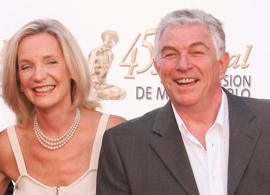 Marie-Christine Adam and Jean-Claude Bouillon at the TF1 party during the 45th Television Festival of Monte Carlo.