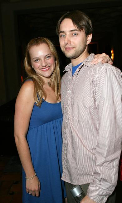 Elisabeth Moss and Vincent Kartheiser at the wrap party of