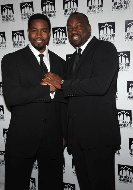 Michael Jai White and Malik Yoba at the Thurgood Marshall College Fund's 21st Anniversary Awards dinner gala.