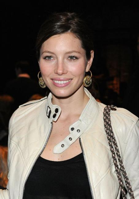 Jessica Biel at the William Rast Fall 2010 Fashion Show during the Mercedes-Benz Fashion Week.