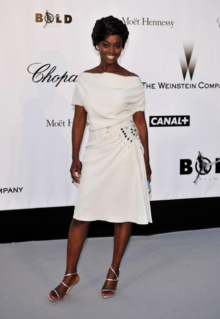 Aissa Maiga at the amfAR's Cinema Against AIDS 2008 benefit.
