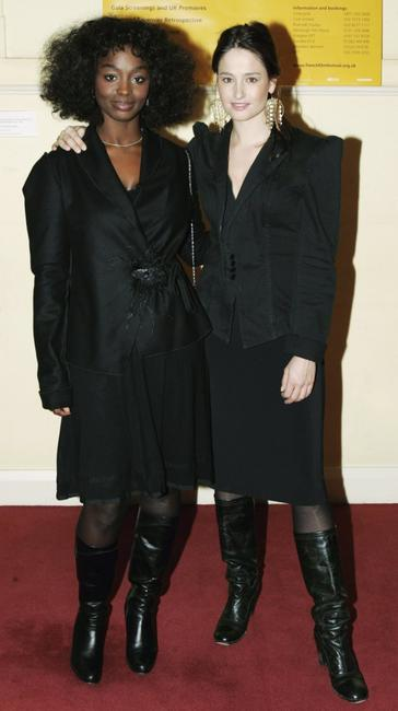 Aissa Maiga and Marie Gilliaini at the launch of the Renault French Film Festival 2006.