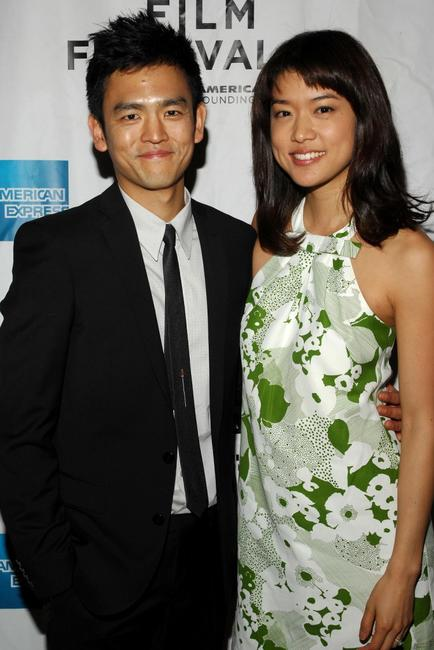 John Cho and Grace Park at the premiere of