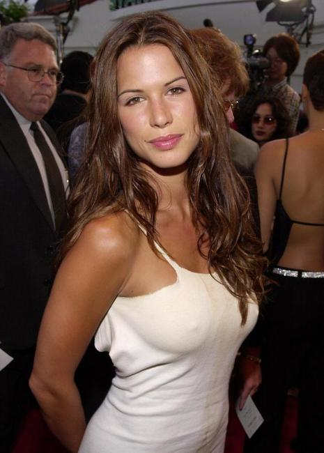Rhona Mitra at the premiere of