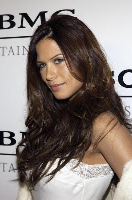 Rhona Mitra at the Sony BMG Music Entertainment Grammy Party in Hollywood.