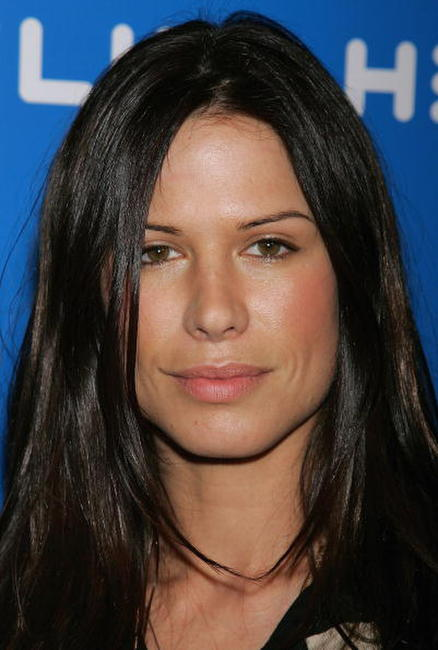 Rhona Mitra at an L.A. party to celebrate the launch of Helio.