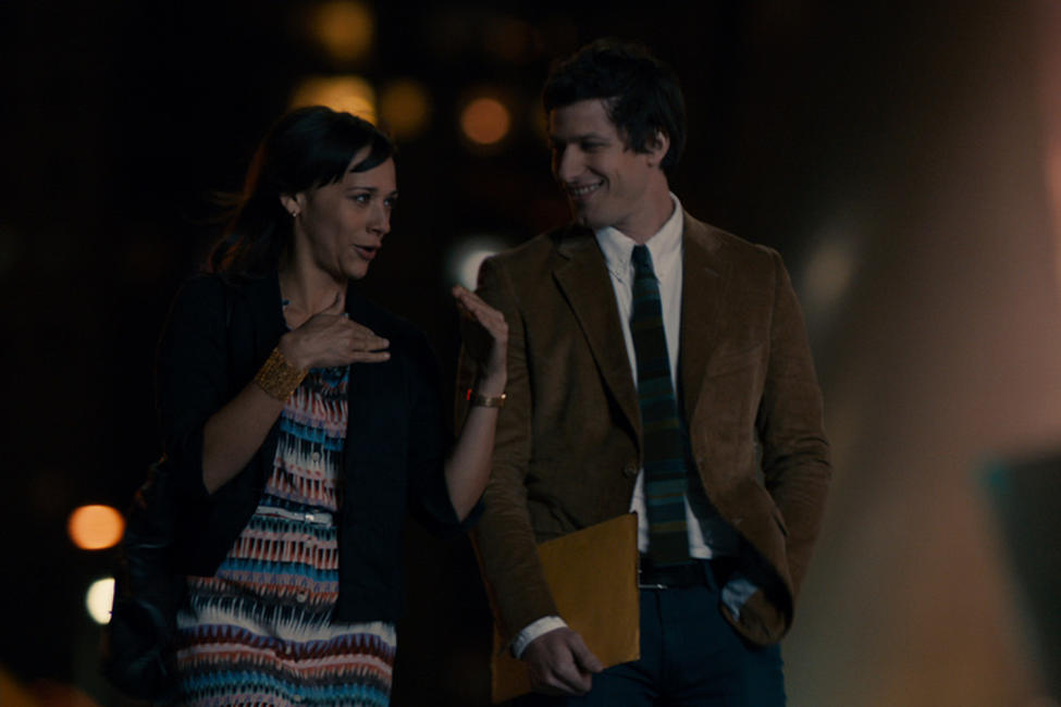 Rashida Jones as Celeste and Andy Samberg as Jesse in