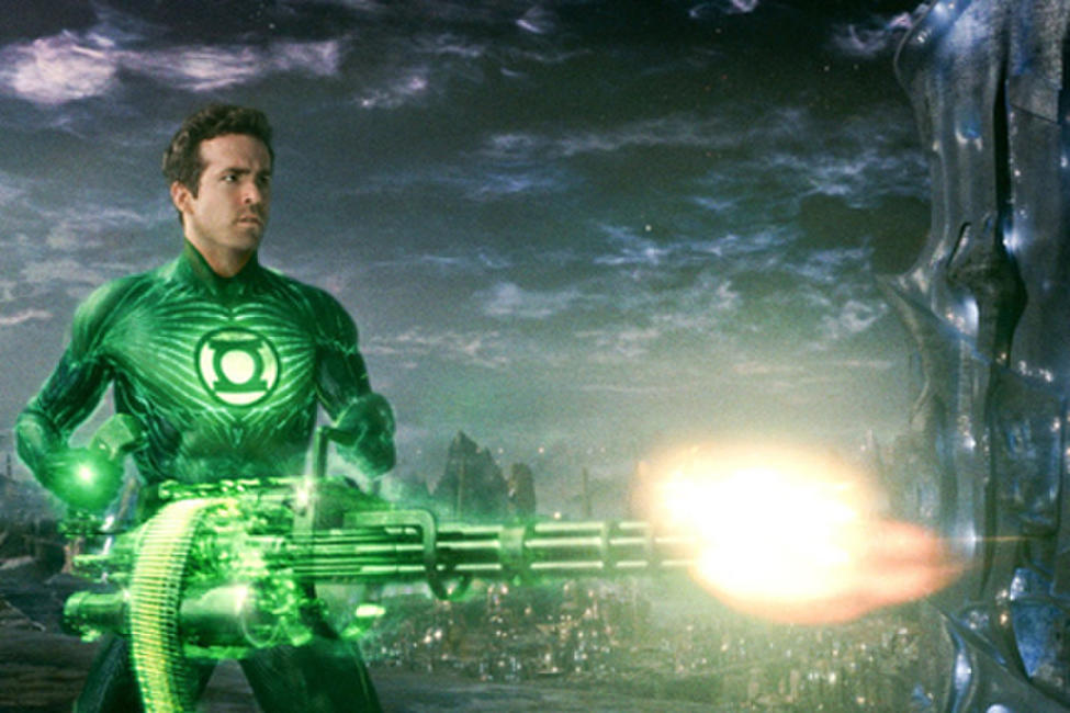 Ryan Reynolds as Green Lantern in ``Green Lantern.''