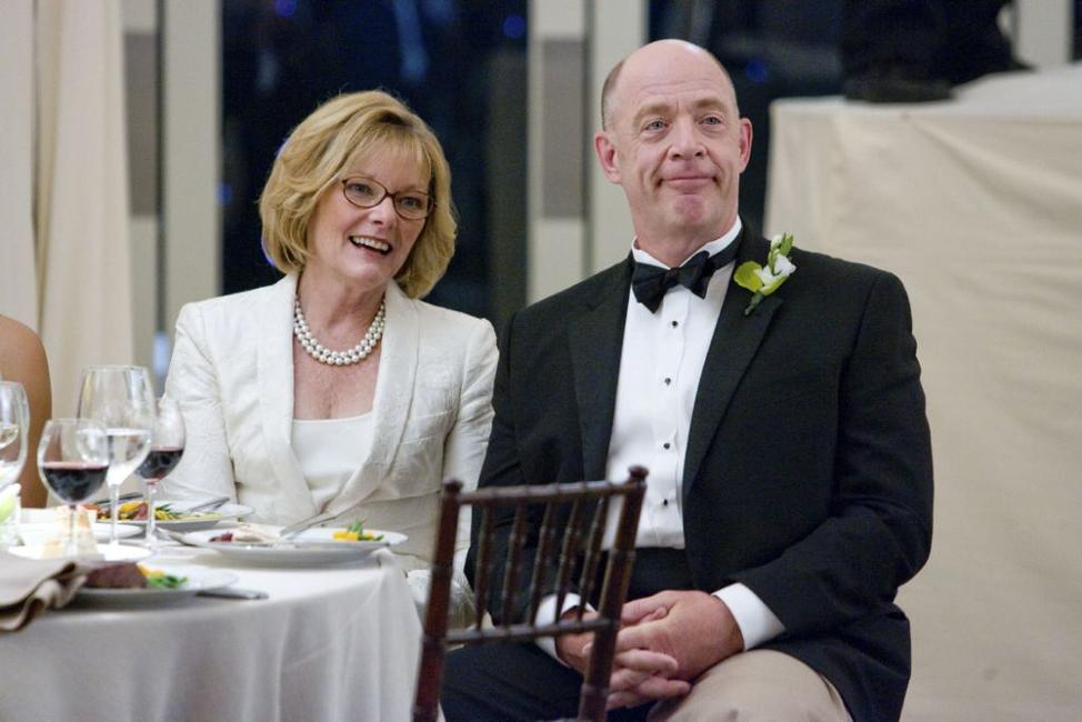 Jane Curtin as Joyce and J.K. Simmons as Oswald Klaven in