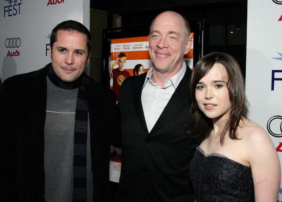 Mateo Messina, J.K. Simmons and Ellen Page at the screening of