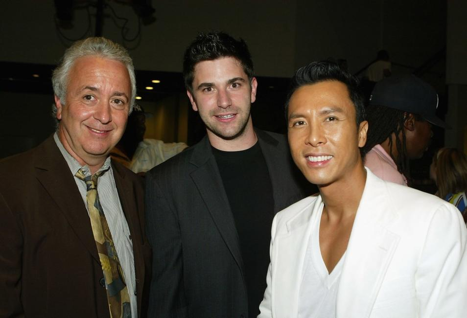 Larry Hausfater, Larry Angrisani and Donnie Yen at the after party of the premiere of
