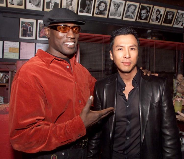 Wesley Snipes and Donnie Yen at the post-premiere party of