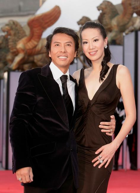Donnie Yen and Guest at the premiere of