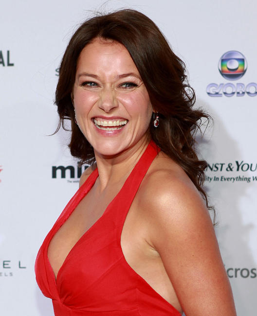 Sidse Babett Knudsen at the 40th International Emmy Awards in New York.