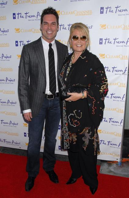 Roseanne Barr and Jorge Valencia at The Trevor Project's 9th annual Cracked XMas