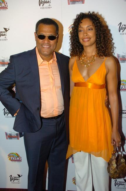 Lawrence Fishburne and Gina Torres at the screening of