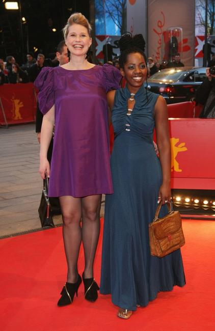 Trine Dyrholm and Lorna Brown at the premiere of