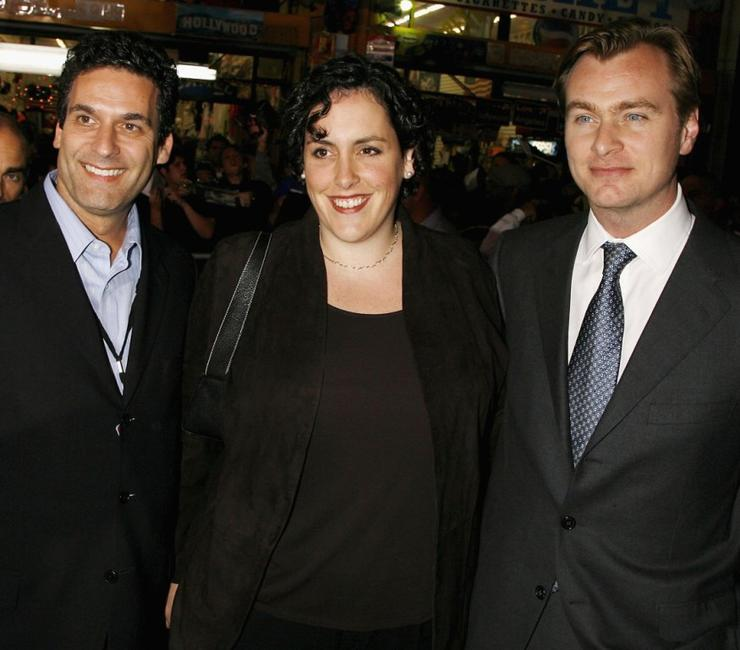 Oren Aviv, Emma Thomas and Christopher Nolan at the premiere of