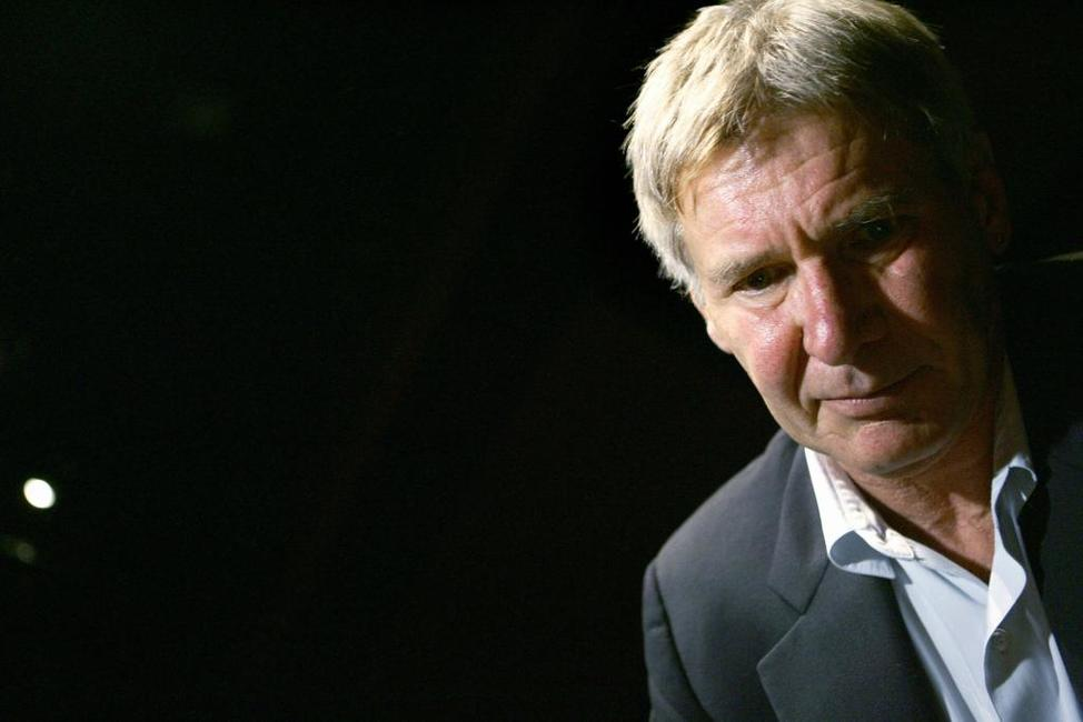 Harrison Ford during a press conference at the first edition of Rome Film Festival.