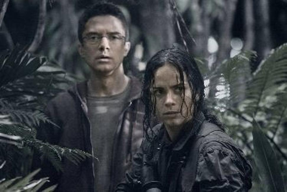 Topher Grace as Edwin and Alice Braga as Isabelle in