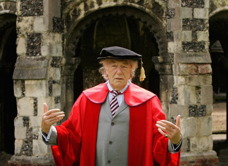Michael Gambon at the Canterbury Cathedral before receiving an Honorary Degree from the University of Kent.