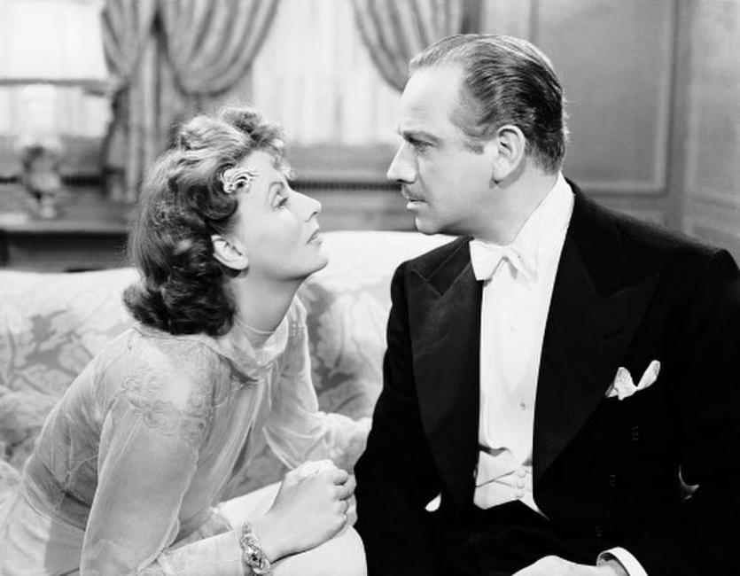 Greta Garbo and Melvyn Douglas in