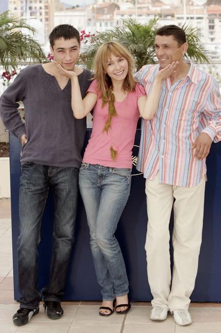 Khurched Golibekov, Dinara Droukarova and Maruf Pulodzoda at the photocall of