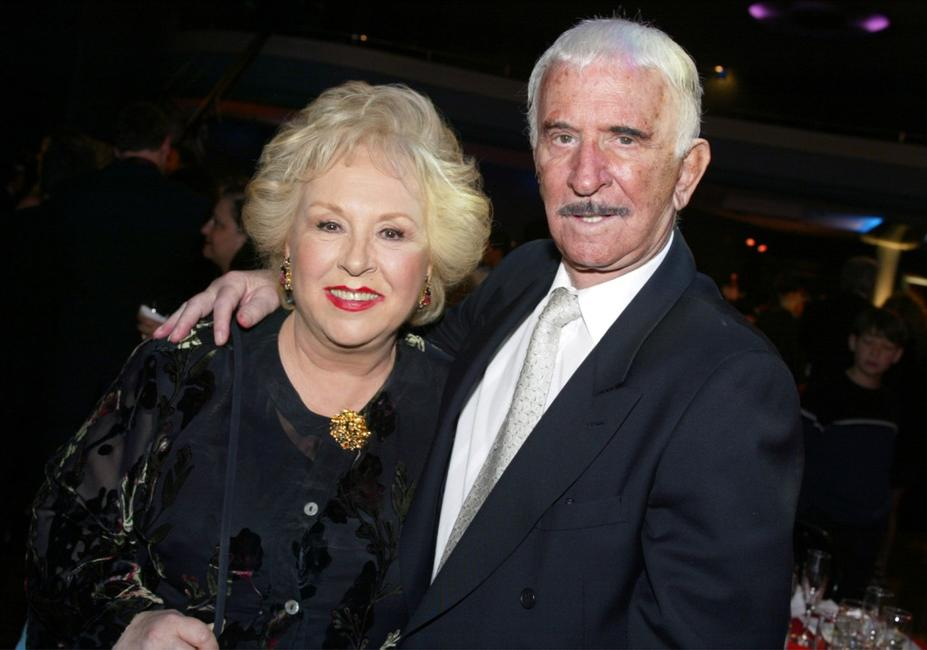 Don Adams and Doris Roberts at the TV Land Awards 2003.
