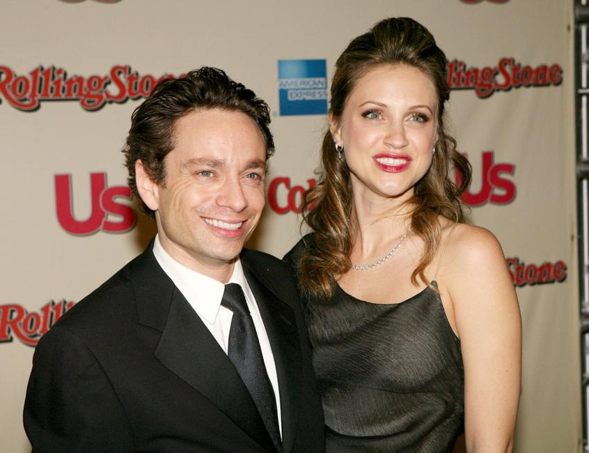 Chris Kattan and guest at the Us Weekly and Rolling Stone Oscar party.