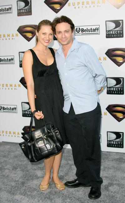 Chris Kattan and guest at the premiere of