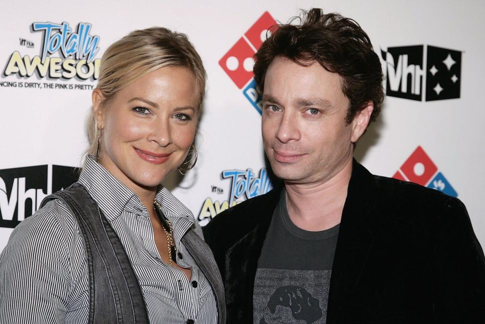 Brittany Daniel and Chris Kattan at the VH1 80's party to celebrate the premiere of
