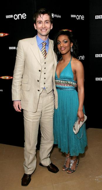 David Tennant and Freema Agyeman at the gala screening of
