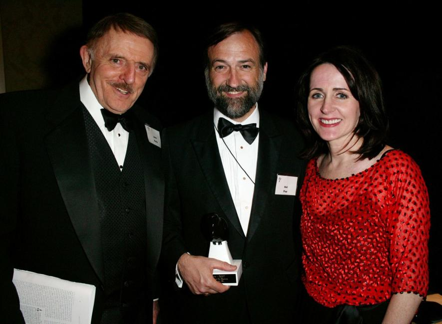 John Astin, Hal Poe and Carol Higgins Clark at the Mystery Writers of America 57th Annual Edgar Awards.