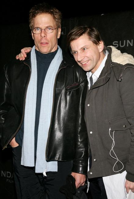 Greg Germann and Simon McBurney at the premiere of