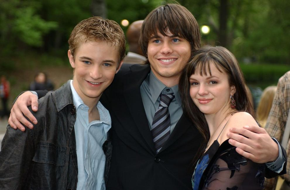 Michael Welch, Jason Ritter and Amber Tamblyn at the CBS Upfront Previews 2003-2004.