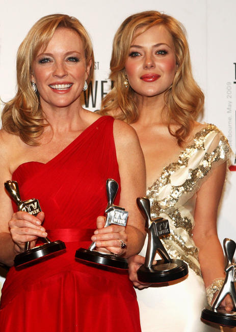 Rebecca Gibney and Jessica Marais at the 51st TV Week Logie Awards in Australia.