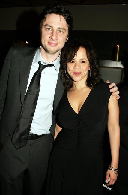 Zach Braff and Rosie Perez at the after party for