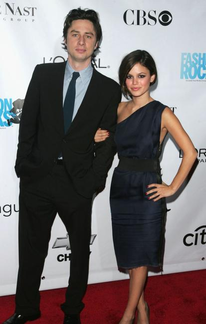 Zach Braff and Rachel Bilson at the Third Annual Fashion Rocks Concert.