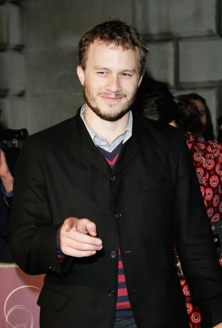 Heath Ledger at The London Party at the Spencer House in London.