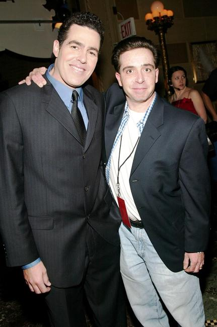 Adam Carolla and Guest at the Comedy Central Bar Mitzvah Bash after party.