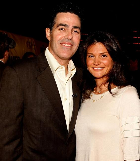Adam Carolla and Lynette Carolla at the premiere of