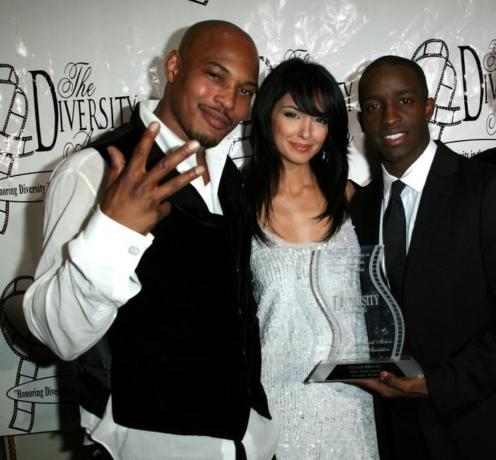 Sticky Fingaz, Nazanin Boniadi and Elijah Kelley at the 15th Annual Diversity Awards.