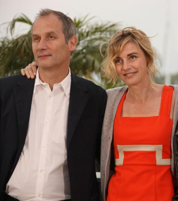 Hippolyte Girardot and Anne Consigny at the photocall of
