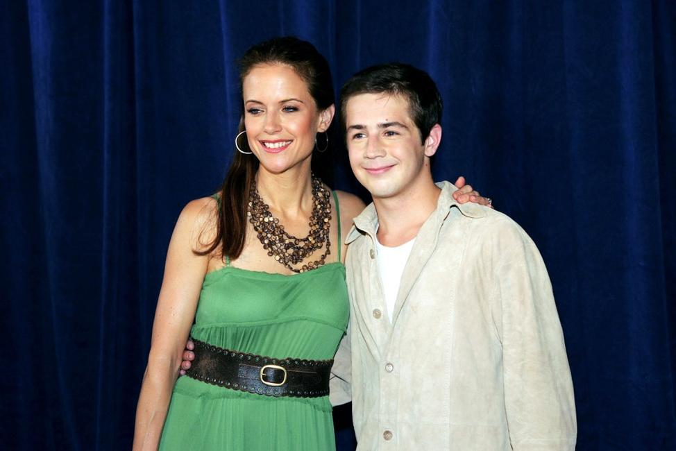 Michael Angarano and Kelly Preston at the premiere of
