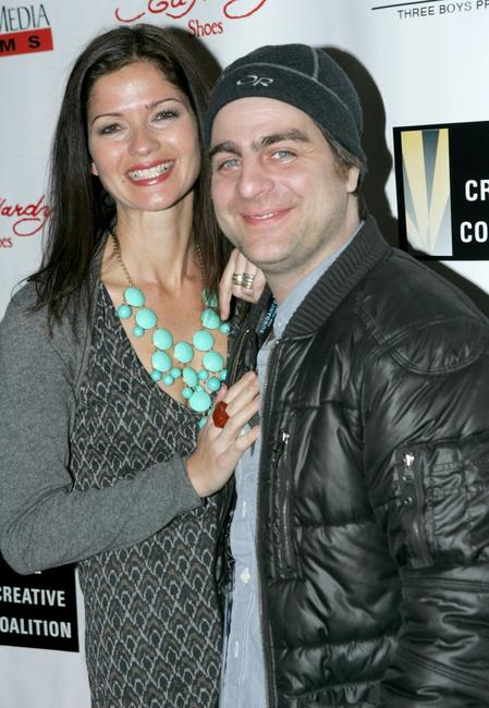 Jill Hennessy and Derick Martini at the dinner party during the premiere of