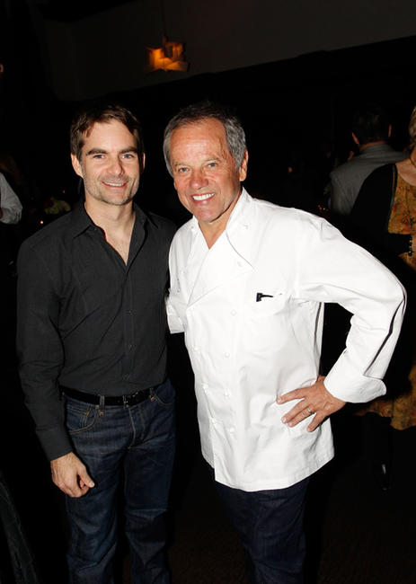 Jeff Gordon and Wolfgang Puck at the NASCAR Evening Series during the day 2 of the NASCAR Sprint Cup Series Champions Week.