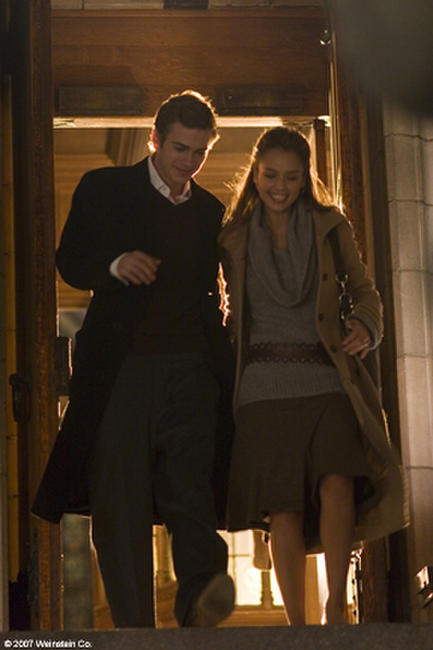 Hayden Christensen and Jessica Alba in