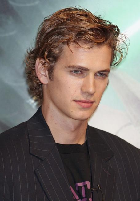 Hayden Christensen at the photocall to promote
